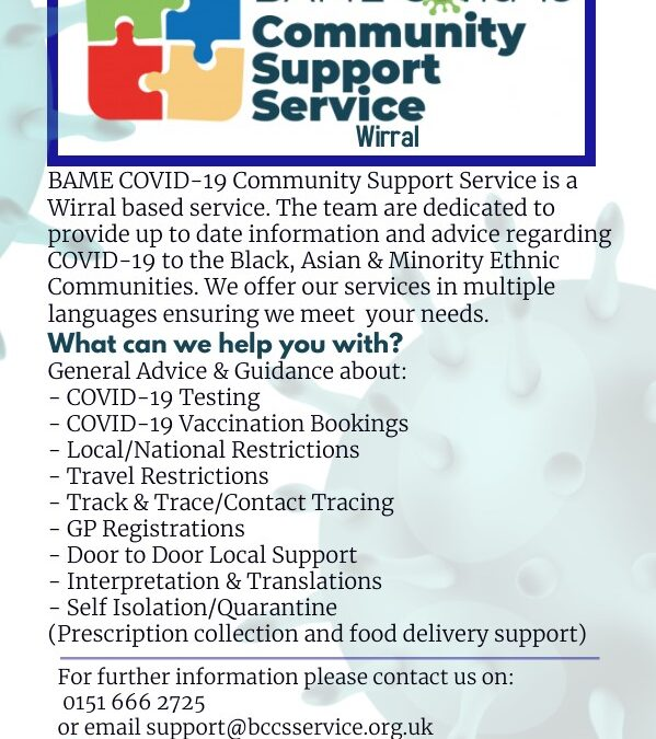 BAME Covid-19 Community Support Service